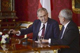 Prezident Zeman na státní návštěvě Rakouska s prezidentem Alexanderem Van der Bellenem (3. 4. 2019)