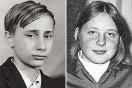 Čtrnáctiletý Putin a puberťačka Merkelová. Světové osobnosti, jak si je nepamatujete