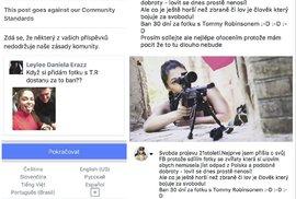 Screenshooty lovkyně lvů Michaely, jak jí zabanoval Facebook...