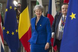 Britská premiérka Theresa Mayová přijela do Bruselu i tentokrát s hlavou vzhůru a úsměvem na rtech. Oblékla se do modré - tedy barvy, která převládá na vlajce EU. Stejnou barvu zvolila i německá kancléřka Angela Merkelová.