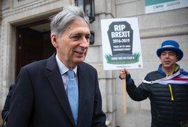 Hlasování o druhém referendu o brexitu je na spadnutí, říká britský ministr financí Hammond