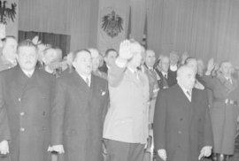 Alois Eliáš a Emil Hácha za protektorátu.