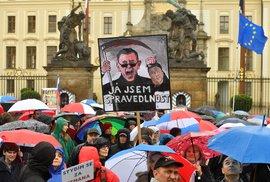 Demonstrace proti Andreji Babišovi a Marii Benešové v čele justice (29. 4. 2019)