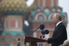 Ruský prezident Vladimir Putin na oslavách konce druhé světové války v Moskvě (9.5 2019)