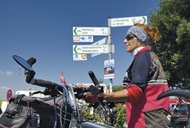 Německé cyklostezky jsou značené důkladně...