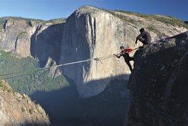 Danny Menšík napíná v Yosemitech