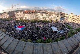 Máme toho dost! Desítky tisíc demonstrantů zaplnily Václavské náměstí. Žádaly demisi…