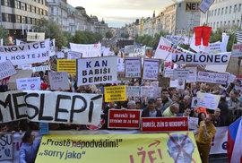 Už pátá protivládní demonstrace v řadě: Zaplní odpůrci Babiše a Benešové opět Václavák?