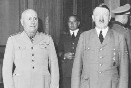 Adolf Hitler a Benito Mussolini, vůdci nacistického Německa a fašistické Itálie