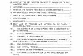Návrh auditorské zprávy, kterou do Česka poslala Evropská komise