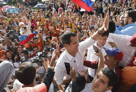 Opoziční vůdce Venezuely Juan Guaido.
