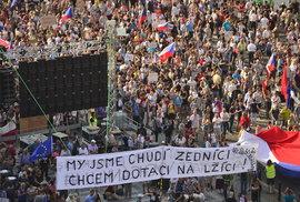 Pátá protivládní demonstrace v řade. 120 tisíc lidí žádalo demisi premiéra Babiše
