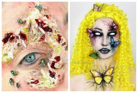 Mrtvý hmyz jako součást make-upu: Americká stylistka dobývá sociální sítě odvážnými kreacemi