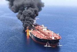 Tankery napadené v Ománském zálivu
