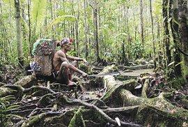 Odpočinek na cestě džunglí.
