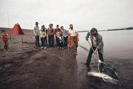 Sportovní rybolov na řece Columbii (duben, 1973).