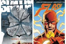 Obálky dvou nových komiksů, Skalpů 10 a Odznaku
