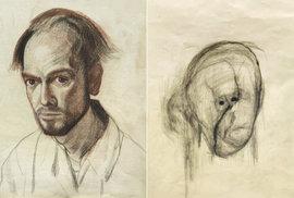 Alzheimer mu ukradl tvář: Rozpouštění vlastní osobnosti zachytil umělec v děsivé…