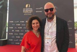 Režisér David Ondříček a herečka Martha Issová na festivale v Monte Carlu.