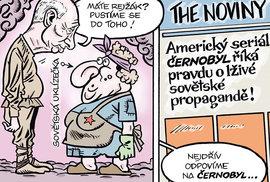 Zelený Raoul: Putin vymývá mozky. Seriál Černobyl lže o sovětské propagandě