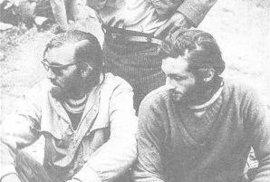 Nando Parrado (vlevo) a Canessa společně s Chilským pastevcem Sergio Catalanem