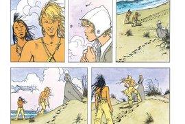 V komiksu Indiánské léto se přeneseme do sedmnáctého století, kde malá skupina osadníků poklidně přežívá poblíž indiánského kmene… Než tragická událost rozpoutá krvavou válku.