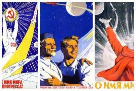 56 fantastických sovětských vesmírných plakátů: Za mír a socialismus i v kosmu!