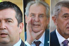 Prezident Zeman tvrdě porušuje ústavu. Hamáček za tuto krizi nemůže, Babiš má víc másla…