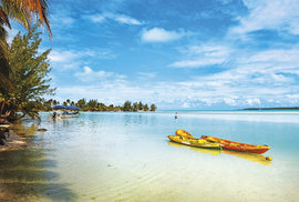 Laguna ostrova Aitutaki je místním lákadlem číslo jedna apodle mnohých patří knejkrásnějším vPacifiku