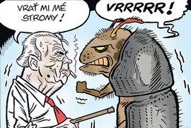 Zelený Raoul: Zeman zničil Nečase, Sobotku, Hamáčka... Teď je na řadě kůrovec!