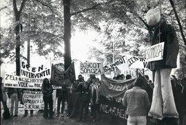 Protesty proti režimu diktátora Anastasia Debayle Somozy v roce 1979.