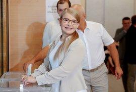 Julija Tymošenková u parlamentních voleb.