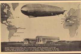 Před 90 lety uskutečnil Graf Zeppelin cestu kolem světa: Pasažéři pojídali kaviár,…
