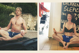 Karel Janeček radí: Když při meditaci v konzumu pevně zavřete oči, nevidíte nic. Ani to, že vypadáte jako debil