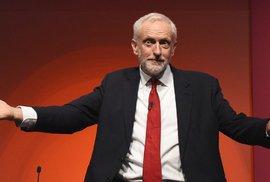 Jeremy Corbyn na konferenci labouristů