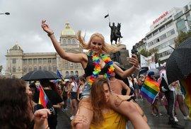 Duhový průvod Prague Pride 2019.
