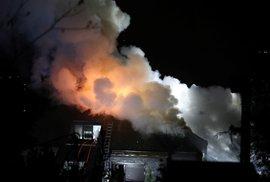 Bývalou vilu Radovana Krejčíře zasáhl v noci na 20. srpna 2019 požár.