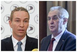Pirát Bartoš po setkání se Zemanem: Pan prezident se rozkročil velmi zeširoka,…