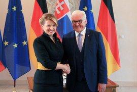 Slovenská prezidentka Zuzana Čaputová se setkala 21. srpna 2019 v Berlíně s německým prezidentem Frankem-Walterem Steinmeierem.