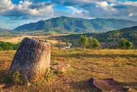 Laoská planina Plain of Jars