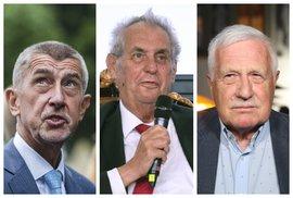 Zeman vyznamená Klause, prezidentem by volil Babiše
