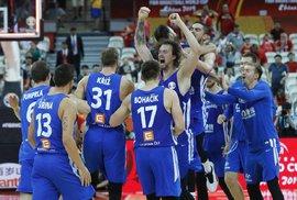Čeští basketbalisté postupují mezi 8 nejlepších týmů světa. Ve čtvrtfinále vyzvou Austrálii