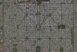 Argentinské město La Plata má neuvěřitelně symetrický půdorys