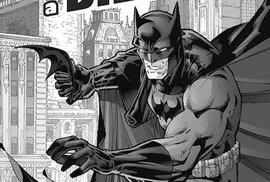 Úžasná výstavka amerického komiksu: neodolatelný Batman v černé a bílé