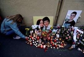 Připomínka vraždy novináře Kuciaka a jeho přítelkyně (snímek ze září 2019).