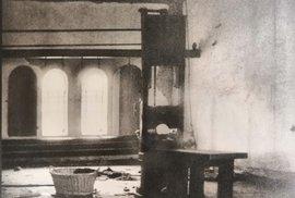 V tomto stavu objevila popravčí místnost v dubnu 1945 rudá armáda.