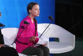 Klimatický summit OSN v New Yorku: Aktivistka Greta Thunbergová (23. 9. 2019)