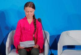 Greta Thunbergová přednesla emotivní projev na klimatickém summitu v New Yorku