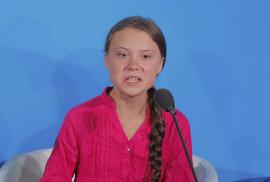 Ukradli jste mi dětství! Poslechněte si plamenný projev švédské aktivistky Grety Thunbergové