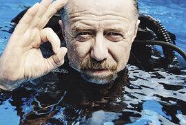 Populární herec Jiří Langmajer se při potápění naučil být sám sesebou